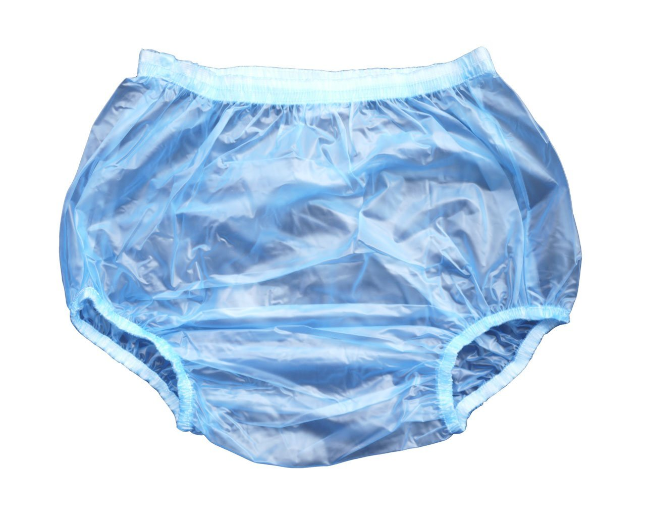 Haian Adult Incontinence Pull-on Plastic Pants Color Transparent Blue (Large) Lang Kee