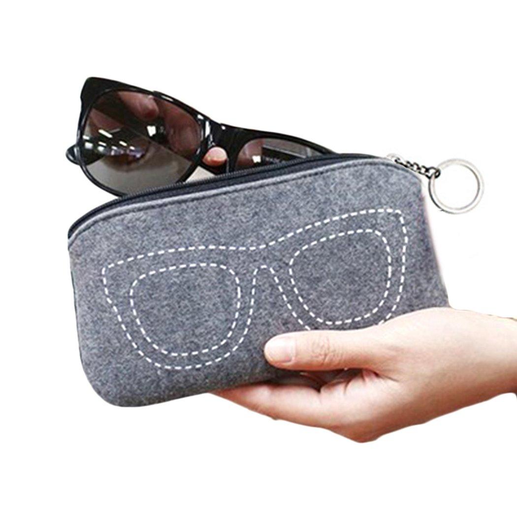 iSuperb Custodia Occhiali Portatile Borsellino Portamonete Coin Purse Sacchetto Occhiali per Uomo e Donna 17.5/×9 cm