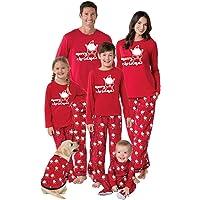 FANTASIEN Juego de Pajamas de Navidad para la Familia a Juego con muñeco de Nieve