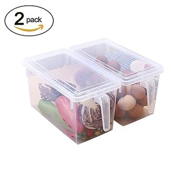 Amazon Com Yzakka 2 Piece Plastic Food Storage Containers