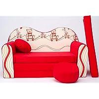 Pro Cosmo Enfants - Sofa futon + pouf/tabouret & oreiller (D26)