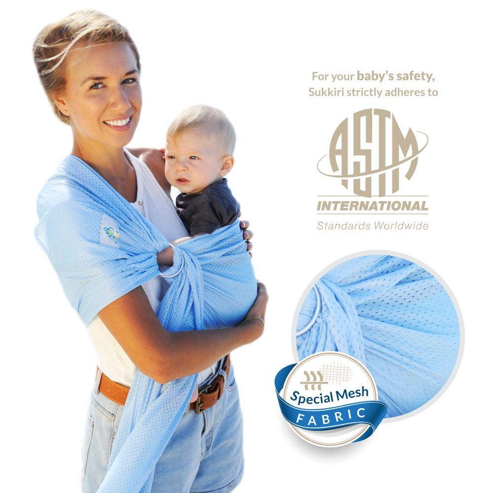 Amazon.com : Lucky Baby Ring Sling with Breathable, Quick-Dry Mesh ...