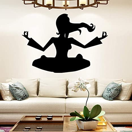 Yoga creativo vinilo etiqueta de la pared decoración del ...