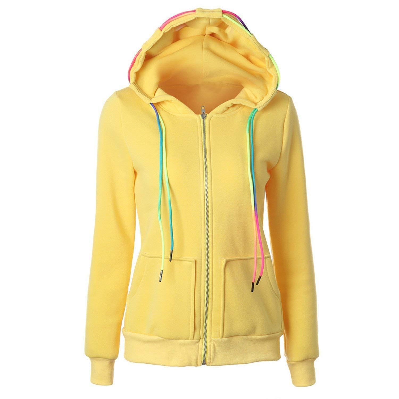 Ander Simple Fleece Long Sleeve Hooded Hoodie Solid Fashion Pocket Pullover Sweatshirt Zipper Coat Plus Size