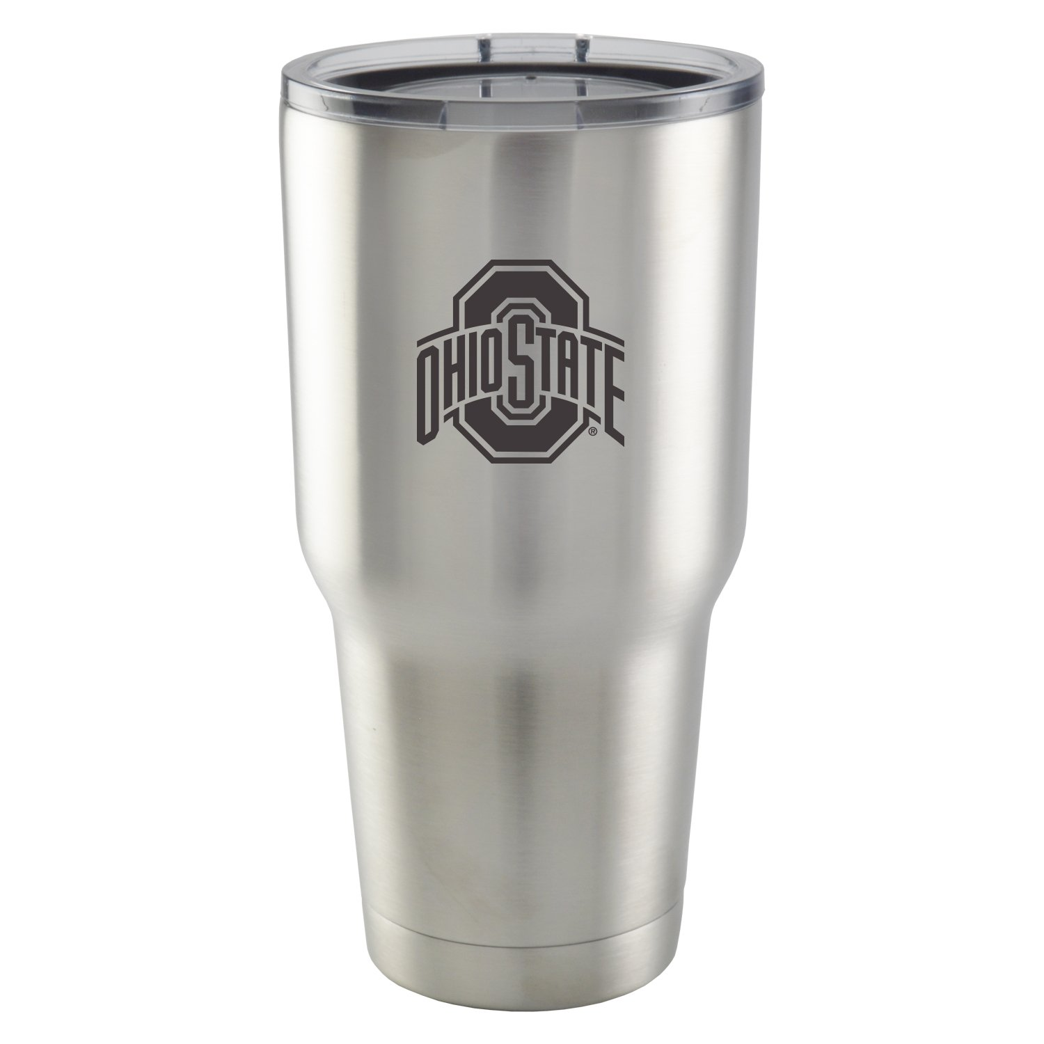 Ohio State University|30 oz Vacuum Insulated Stainless Steel Tumbler with Acrylic Lid|BPA Free|Collegiate Licensed NCAA Product|