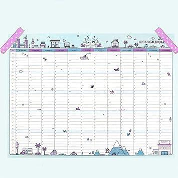 Calendarios de Escritorio 2019 365 días del calendario pared de papel Oficina de la Escuela Notas