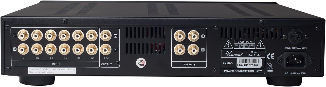 Vincent Audio – SA31 MK Hybrid Stereo Preamplifier – Black