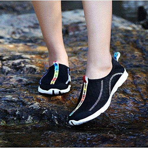 Dogeek Nero Pantofole Sport Shoes Da Acqua Pelle Nuoto Sandali Spiaggia Acquatici Water Per Giardini Uomo Scarpe w87xw