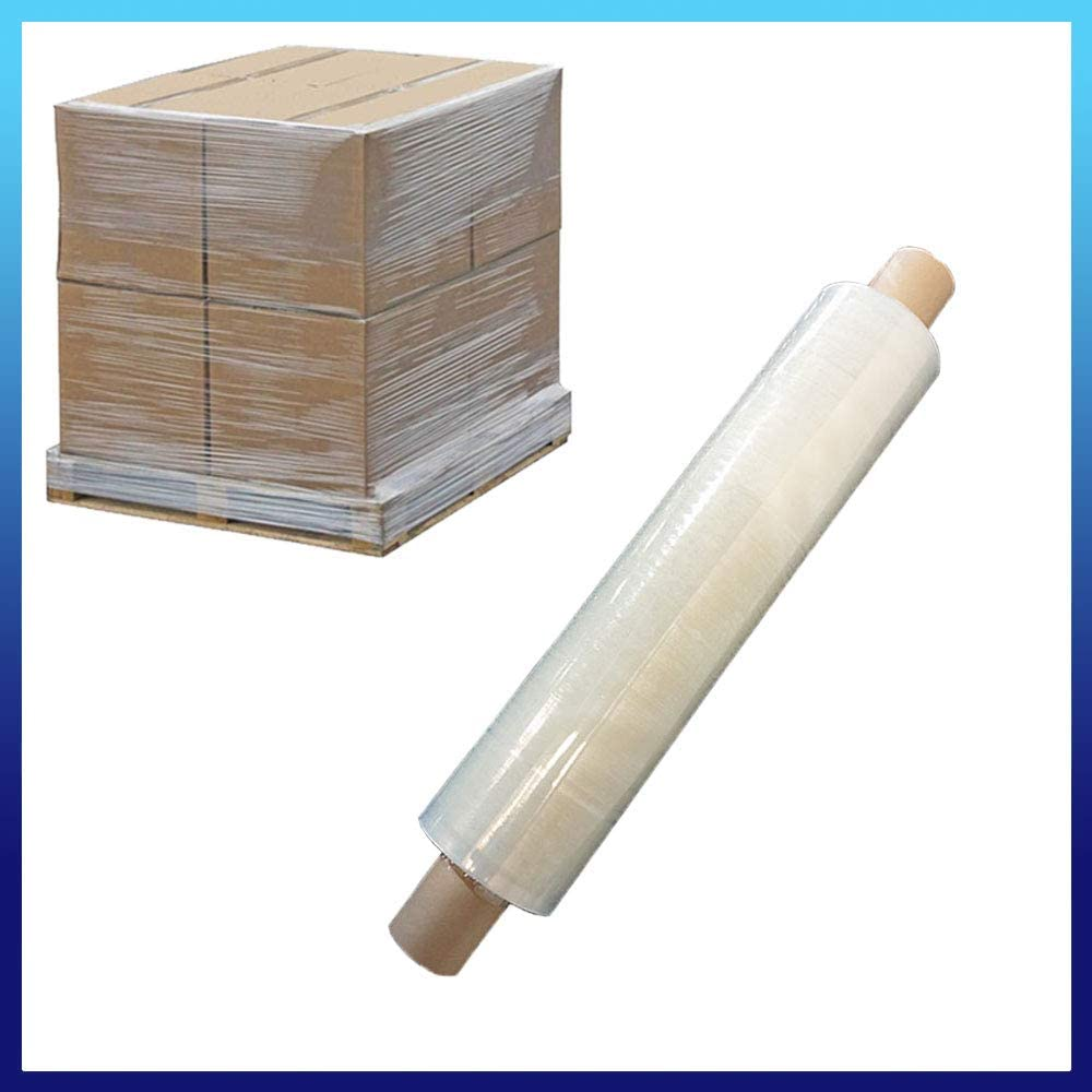 Shrink Plastic for Moving House Black 400mm x 250m Pallet Stretch Shrink Wrap with Extended Core Roll of Heavy Duty Packaging Cling Film Black, 1 ROLL