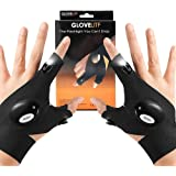 LED Flashlight Gloves Work Gloves with Lights, Birthday Gifts for men dad boyfriend, Light Flashlight Gloves for Handyman, Me
