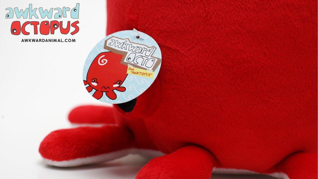 Awkward Octopus Plush by Awkward Animal