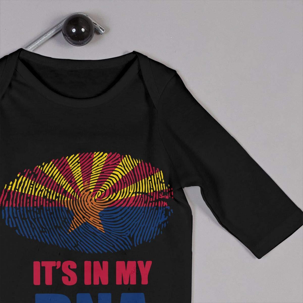 Arizona Its in My DNA Baby Boy Girl Long Sleeve Bodysuit Sleepwear