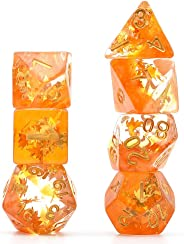 cusdie Polyhedral Dice Sets DND Four Seasons Dice for Dungeons and Dragons(D&D) Role Playing Game(RPG) MTG Pathfinder Table