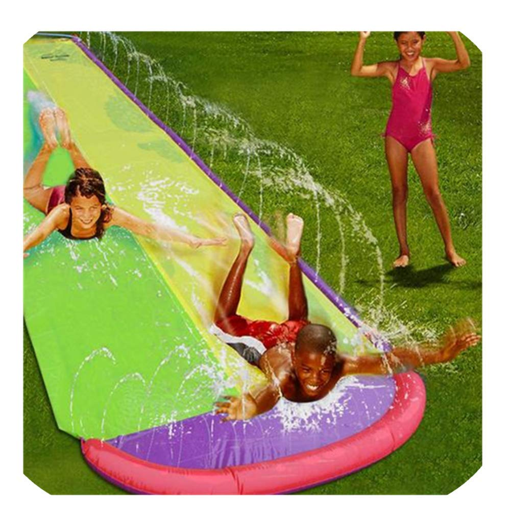 Backyard Double Surfing Giant Water Slide- 16×4.6 ft Splash Pool Water Slide for Outdoor Fun- Water Park Water Toys for Kids by DaJun