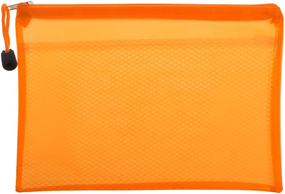 Exing A5 Zipper File Pocket Sac de documents Dossier de bureau Porte-documents /étanche Orange