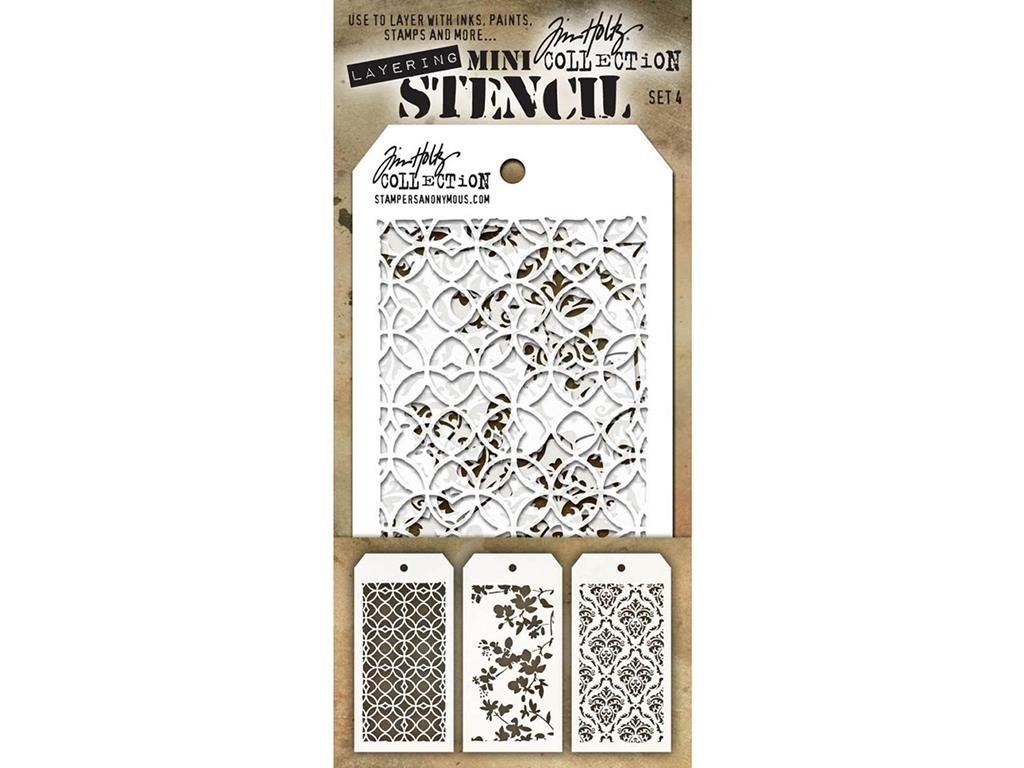 Stampers Anonymous Tim Holtz mini Layered stencil set # 4 SPATHMST.4