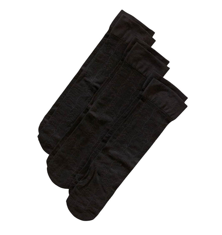 Silvertoe by Gold Toe Women's Comfort Top Dress Sock, Black, Shoe Size 6-9, 3-Pair