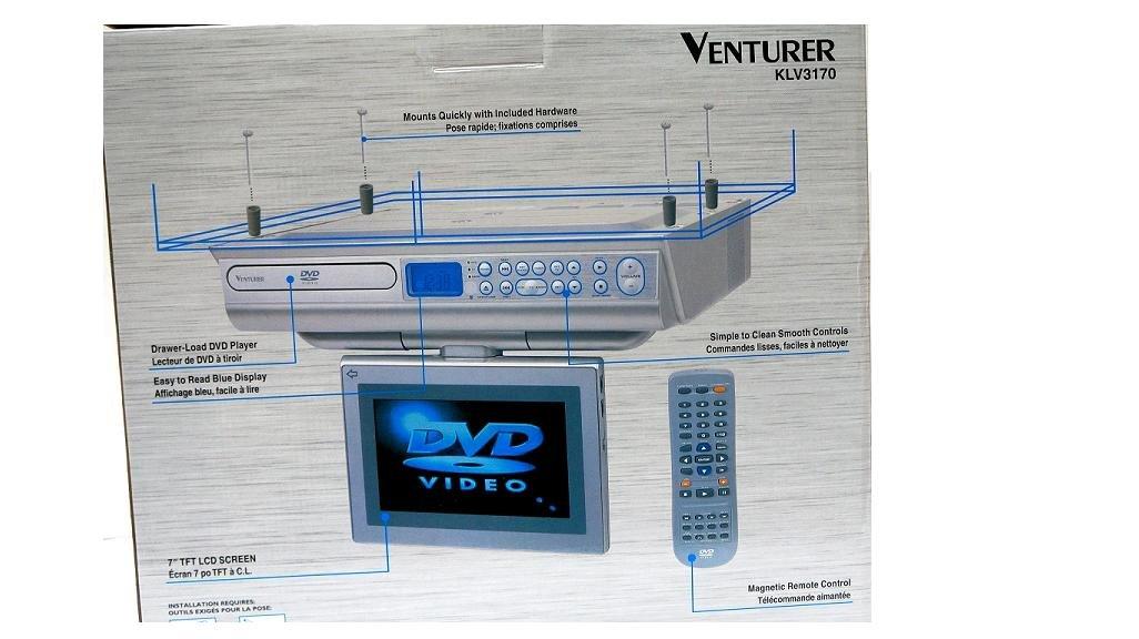 venturer klv3170 7 inch 7 under cabinet counter kitchen lcd tv dvd