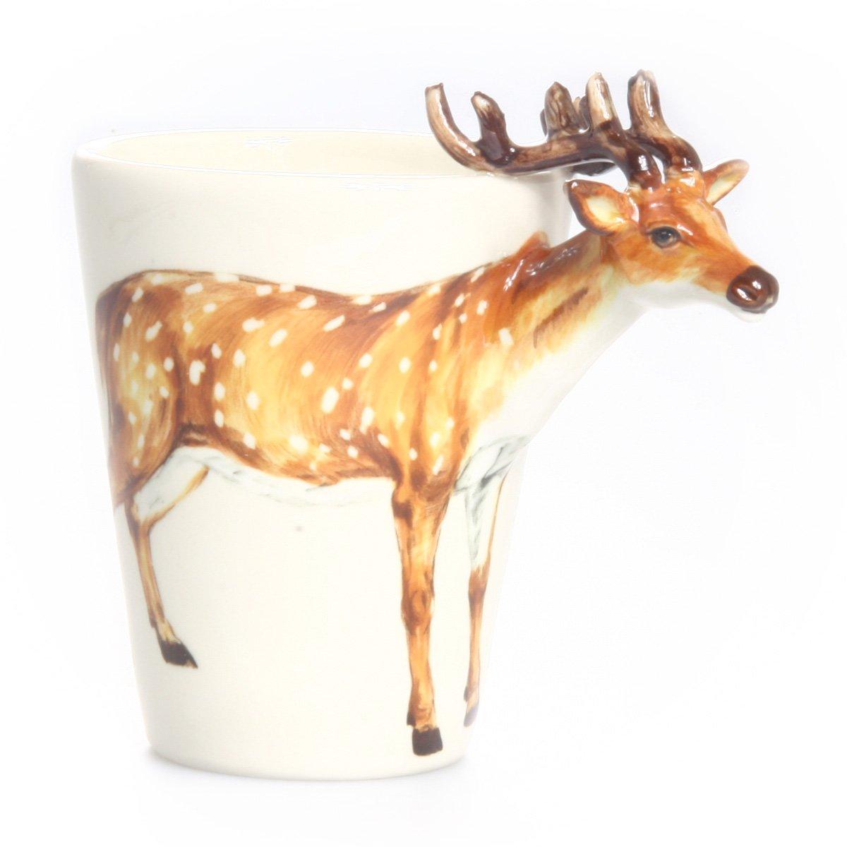 Amazon.com: Blue Witch Deer 3D Ceramic Mug: Home & Kitchen