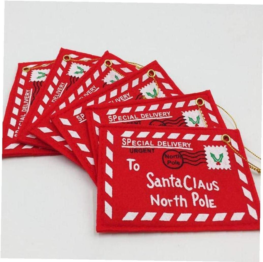 Regalo Hanging Lettera Decorazione Babbo Natale a Babbo Natale Polo Nord Di Natale Busta Ornamenti 10pz Albero Di Natale Busta Cartolina Di Auguri