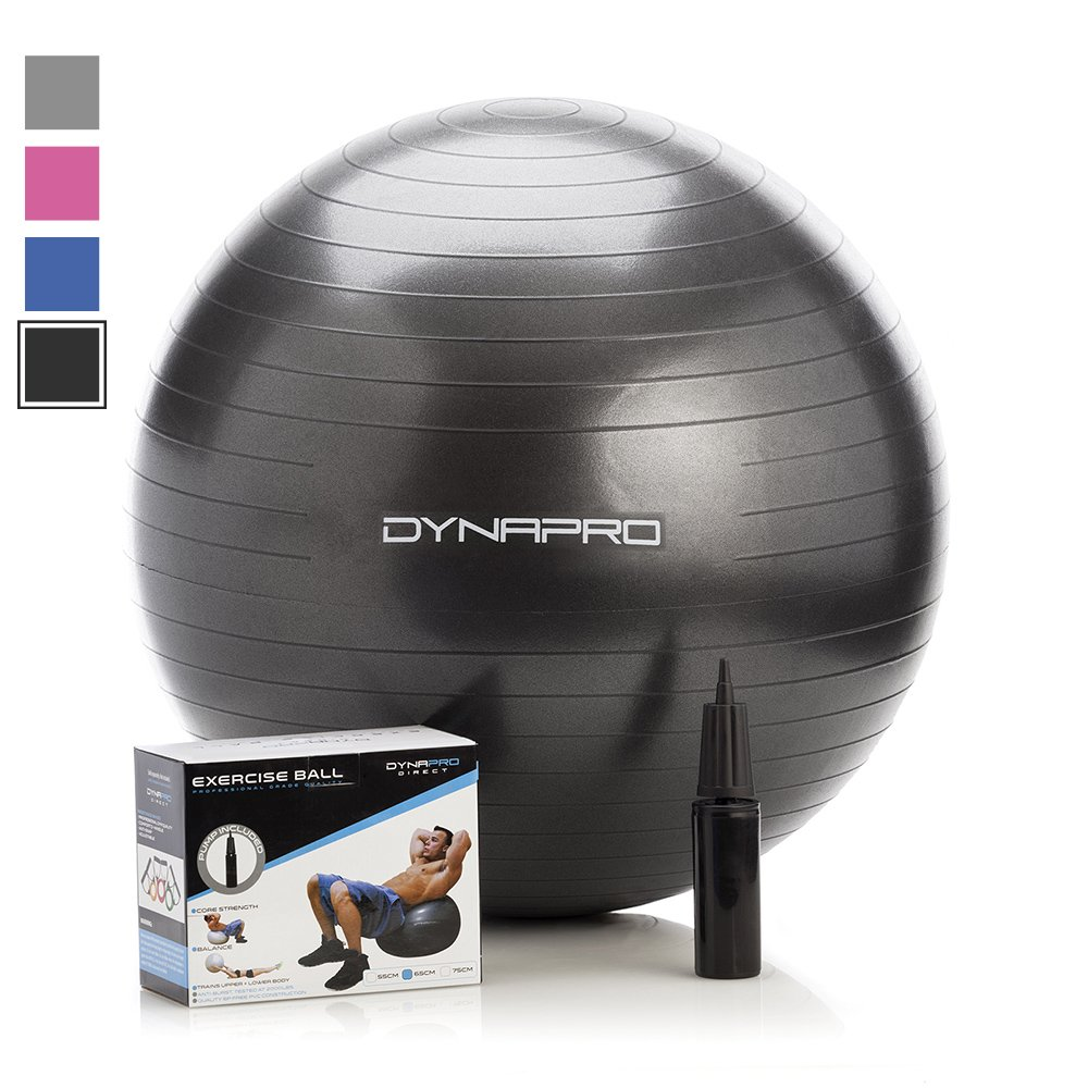 9b0d1c84f Details about DynaPro Exercise Ball with Pump - 55cm - 75cm - Yoga