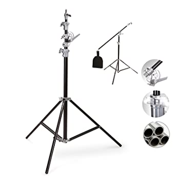 Selens SGL-400ZB 400cm/ 13ft Colchon de Aire Brazo Boom Soporte de Luz Aluminio Doble Heavy Duty Lighting Light Stand: Amazon.es: Electrónica