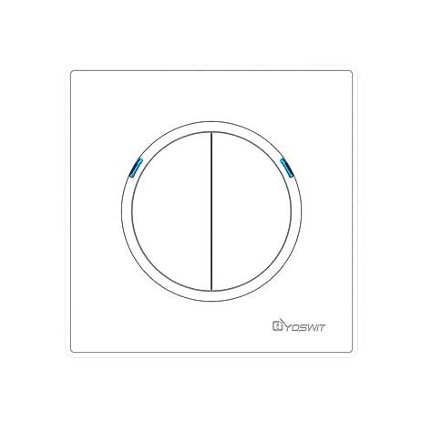 Bluetooth Smart Multi-way Switch 2 Gangs (Socket 86), No Neutral ...