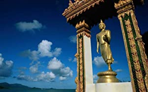 Classic Jigsaw Puzzles 1500 Pieces Adults Puzzles Wooden Puzzles Standing Buddha Statue by The Sea Puzzles for Creative Gift Home Decor 34X22In