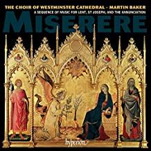 Miserere. Westminster Cathedral Choir, Baker