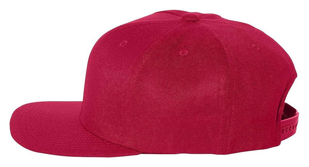 cbc9d4f96f6 Flexfit Wool Blend Flat Bill Snapback Cap
