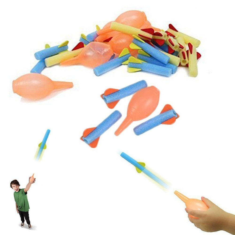 Dazzling Toys Foam Rocket Launcher Pack of 12 Sets Kids Educational Toy Gift