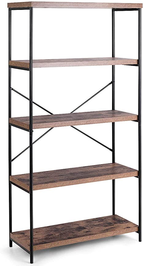Multipurpose Open Bookcase Industrial Shelving Display Rack Storage Organizer
