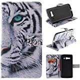 C9 Case Alcatel One Touch Pop C9 Kickstand Case,Bat King Tribe Mighty Tiger Pattern Premium Leather Wallet Flip Kicstand Case Cover With Magnetic Closure For Alcatel One Touch Pop C9