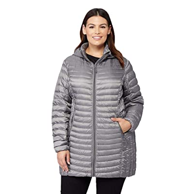 32 DEGREES Womens Ultra-Light Down Long Packable Jacket: Clothing