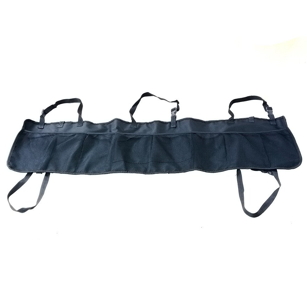 Car Trunk Organizer Bag,elecfan Seat Back Folding Oxford Cargo Hanging Bag Multi-Pocket Travel Storage with Handle Straps by Drive Auto Tidy Pouch Automobiles Accessories for SUV,Hatchback - Black