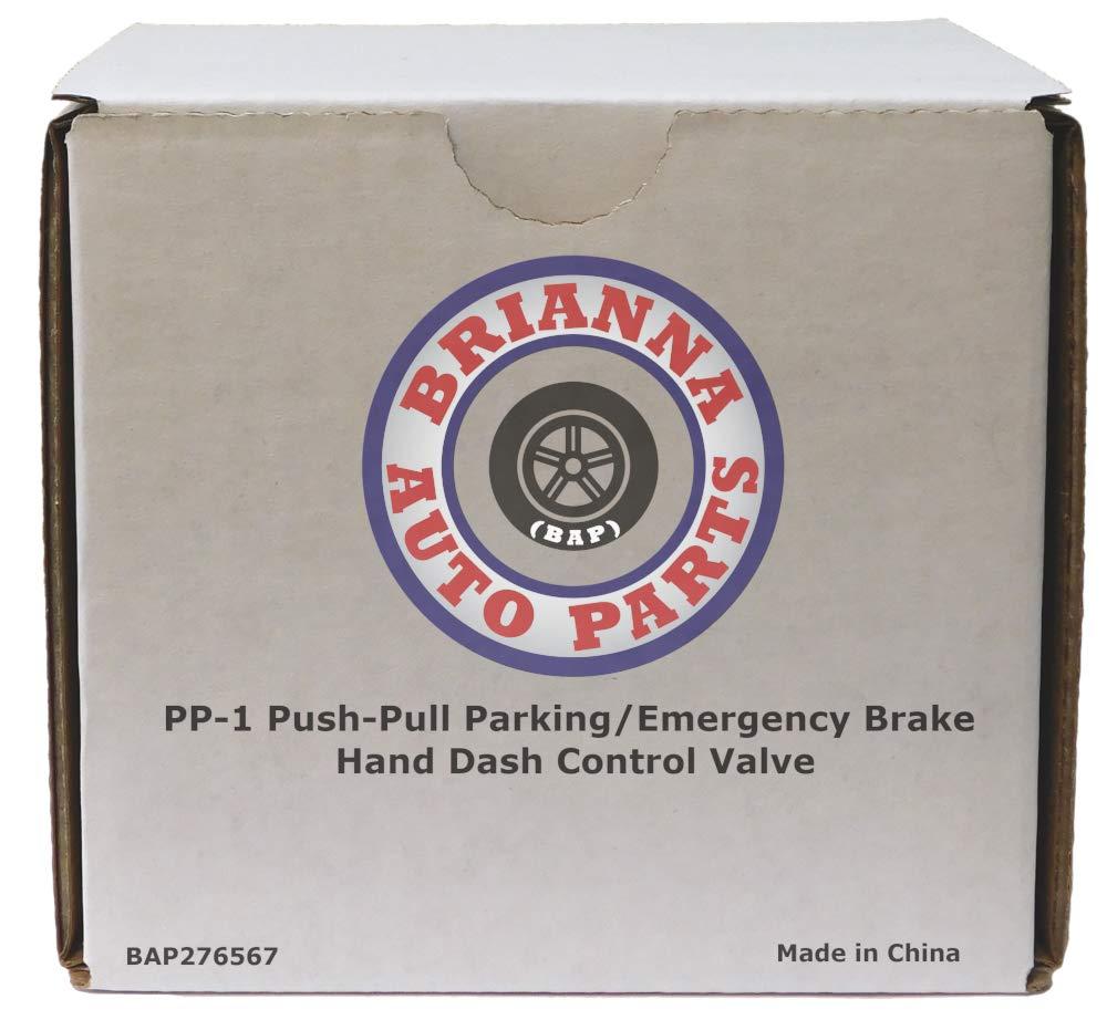 PP-1 Push-Pull Parking/Emergency Brake Hand Dash Control Valve for Heavy Duty Big Rigs