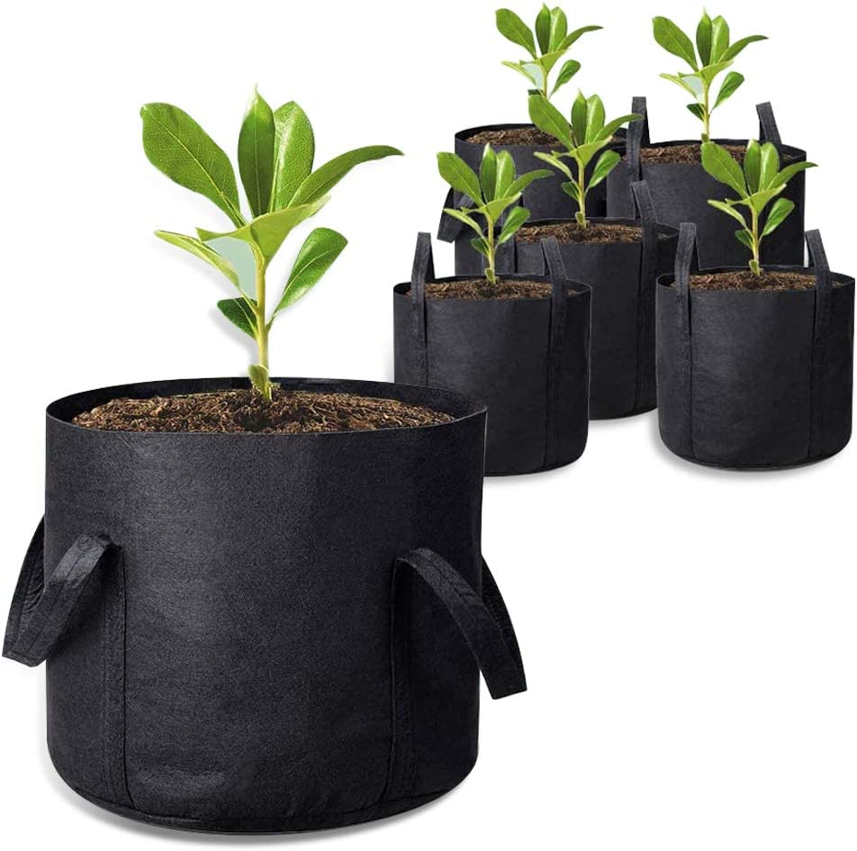 5-Pack 7 Gallon Grow Bags ,Nonwoven Fabric Plant Pots with Handles