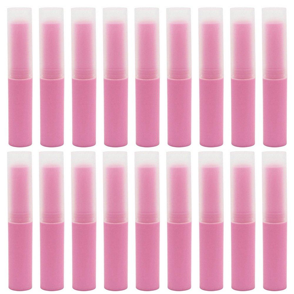 Elisona-25 PCS 4G Matte DIY Refillable Empty Lip Balm Lipstick Stick Tube Bottle Container Beige