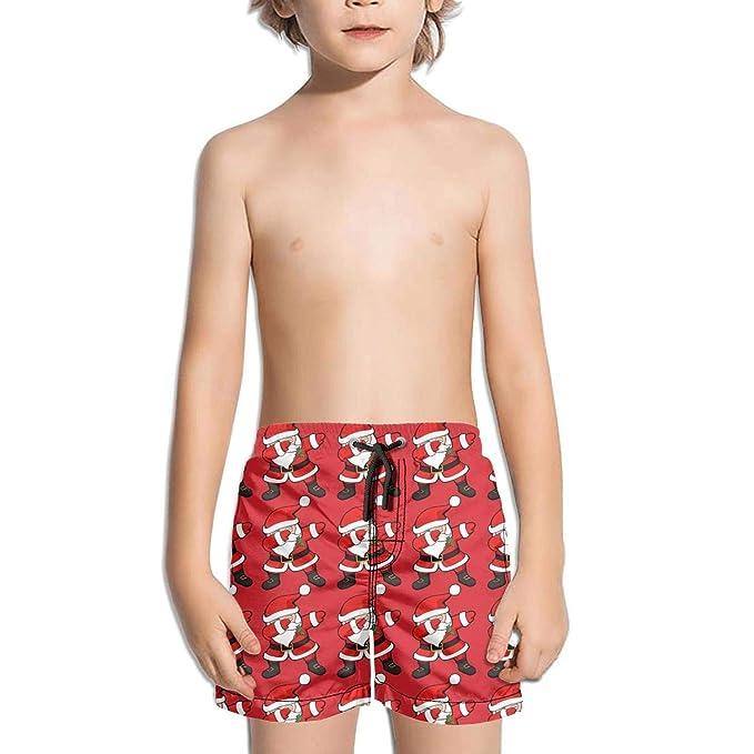 FUNiNY BOY Funny Dabbing Santa Claus Christmas Dab Casual Mens Surfing Boardshorts with Pocket