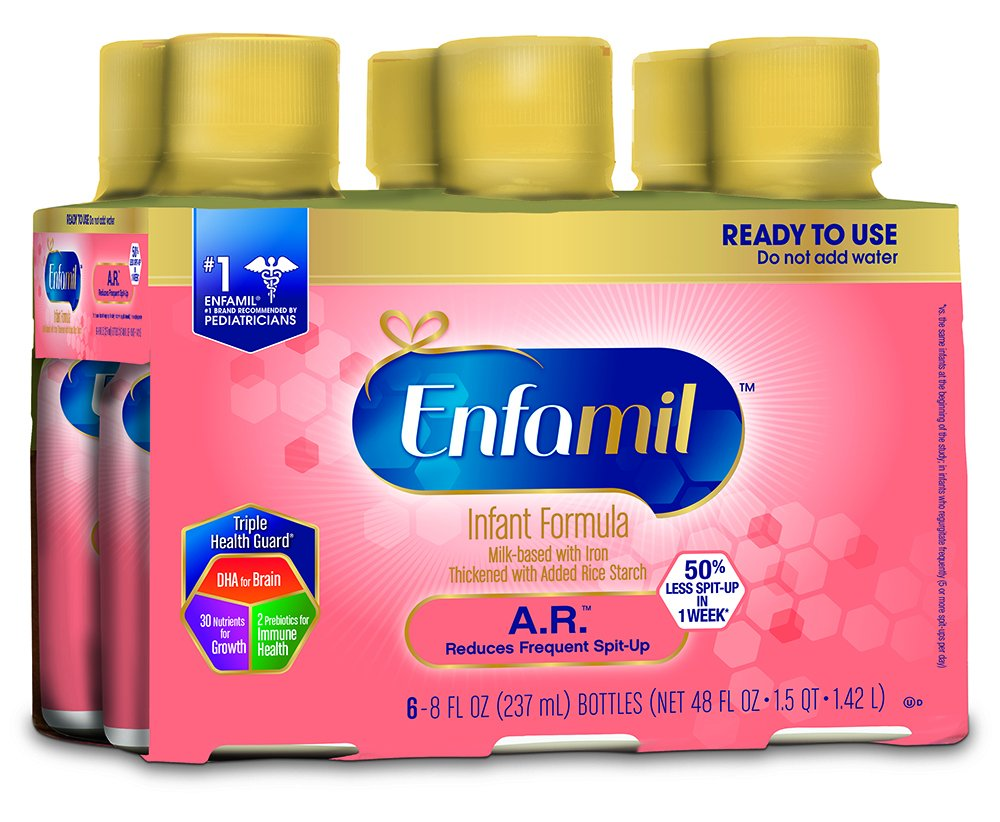 Enfamil A.R. Infant Formula - Clinically Proven to reduce Spit-Up in 1 week - Ready to Use Liquid, 8 fl oz (24 count)