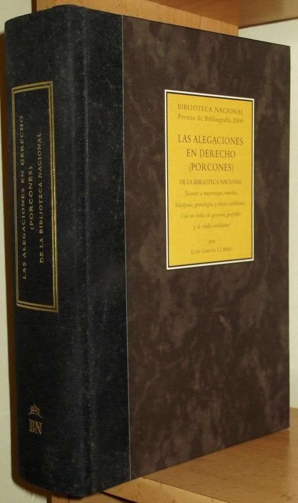 LAS ALEGACIONES EN DERECHO PORCONES DE LA BIBLIOTECA NACIONAL: Amazon.es: LUIS GARCIA CUBERO, Biblioteca Nacional De España: Libros