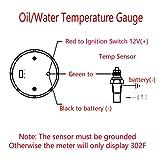"ESUPPORT Car 2"" 52mm Digital Water Temp Gauge Red"