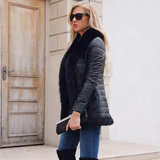 SSZZoo Womens Coat Casual Winter Warm Zipper Leather Jacket Parka Outwear Overcoat at Amazon Womens Coats Shop