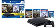 Console PlayStation 4 1TB Bundle Hits 6 - Horizon Zero Dawn Complete Edition, Days Gone, Grand Theft Auto V Premium Edition -