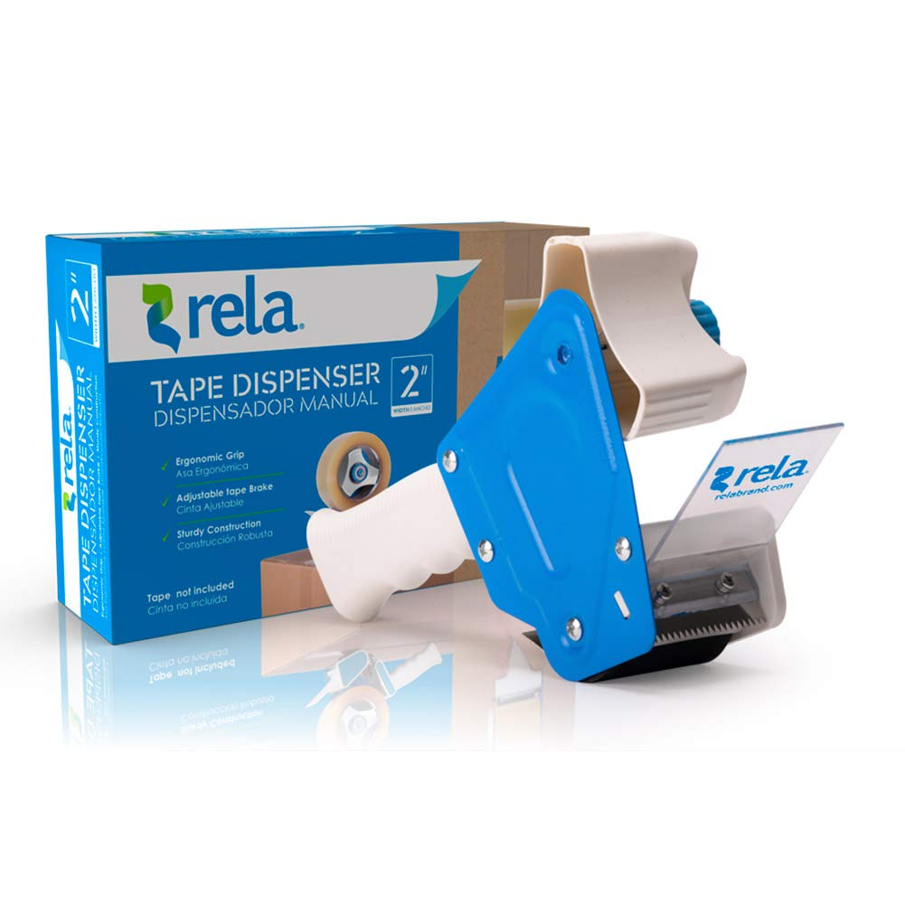 rela Moving & Storage Clear Premium Tape - (109.3 Yards x 1.88 Inch) Heavy Duty Premium Sealing Adhesive for Moving and Storage (6 Pack) (Dispenser, ...