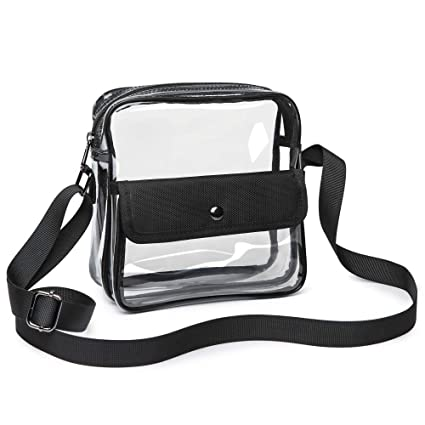 85442b1cc112 Amazon.com : iSPECLE Clear Purse, Clear Stadium Bag Approved for NFL ...