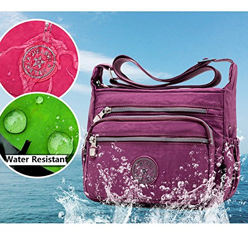 Teen Girls Pockets Crossbody Large Muti Purse Water Women for Lightweight Bag Travel Capacity Ladies and or Resistant wqqtIp