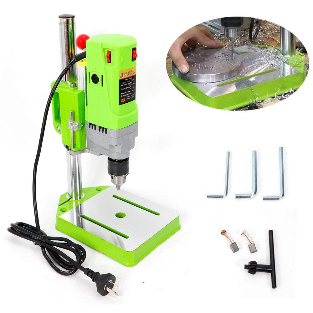 Mandycng Heavy Duty MINI Bench Drill Stand Mini Electric Bench Drilling Machine Drill 710W High Accuracy Drill Garage Tools DIY