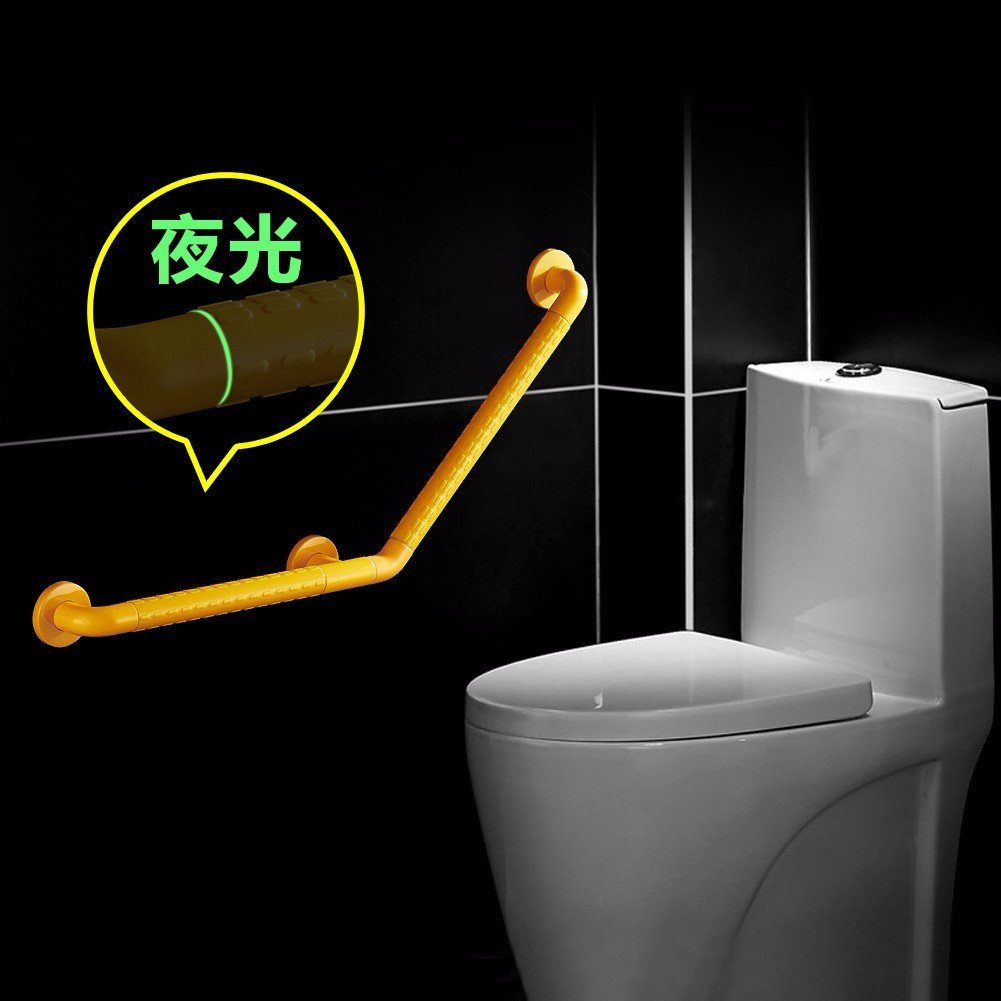 HQLCX Barandilla de bañera Baño Personas De Edad Pasamanos Bañera Cuarto De Baño Cuarto De Baño Sin Barreras Antideslizante Barandillas Pasamanos,50 50 Cm,Amarillo