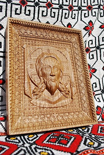 Veil of Veronica Religious icons Personalized engraved gift Wood Carved religious wall decor FREE ENGRAVING FREE SHIPPING by Woodenicons Artworkshop ''Tree of life'' (Image #3)